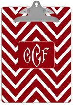 CB8039 - Red Chevron Grande Personalized Clipboard