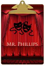 CB8177-Drama / Theater Personalized Clipboard