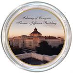 C8111-Custom Coaster Gold Trim from you Photograph -Library of Congress Recognition Gift