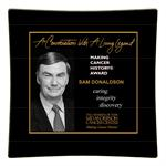 Sam Donaldson-Making Cancer History Award Decoupage Plate Recognition Gift
