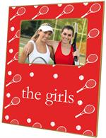 F1130-Red Tennis Personalized Picture Frame