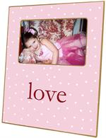 F1185-Pink Tiny Dot Personalized Picture Frame