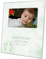 F1262-Sage Baby Feet Birth Announcement Personalized Picture Frame