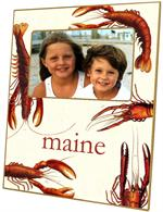 F1400-Antique Lobsters Personalized Picture Frame