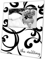 T1522-Curly Curl Personalized Lucite Tray