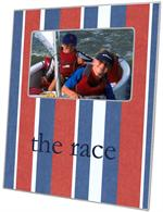 F1580-Cabana Stripe Red & Blue Picture Frame