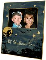 F1597-Halloween Scene Picture Frame