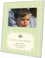 F1637 - Avery Mint Birth Announcement Picture Frame