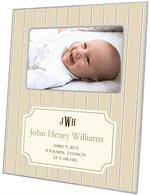 F1638 - Avery Tan Birth Announcement Picture Frame