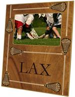 F1733- Lacrosse Sticks on Woodgrain Picture Frame