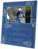 T1745- Lacrosse Sticks on Blue Lucite Tray