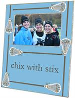 F1789- Lacrosse Sticks on Light Blue Picture Frame