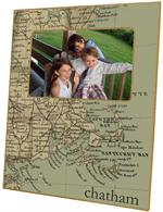 F1820-Cape Cod & Surrounding Area Antique Map Picture Frame