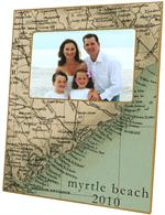 GB1834-South Carolina Coast Antique Detail Map  Personalized Glass Cutting Board