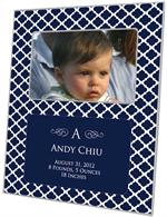F2857-I - Chelsea Navy Personalized Picture Frame with Inset