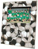 F1867 - Antique Soccer - White Text Personalized Picture Frame