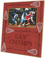 T1883 - Red Lacrosse Lucite Tray