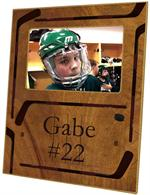 T2440 - Ice Hockey Wood Grain Lucite Tray