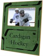 T2442 - Ice Hockey Green Lucite Tray