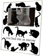 T2444- Cat Silhouettes Lucite Tray
