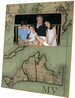 F2479- Martha's Vineyard Antique Map Picture Frame