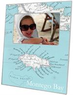 F2508 - Jamaica Antique Map Picture Frame