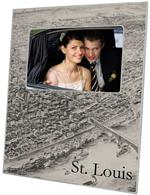 F2528-St. Louis, Missouri Antique Map Picture Frame