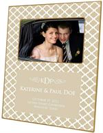 F2600-I - Chelsea Tan Personalized Picture Frame with Inset