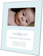 F2605-i - Chelsea Light Blue Birth Announcement Picture Frame
