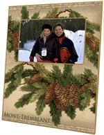 F2609-Vintage Pine Cones Picture Frame