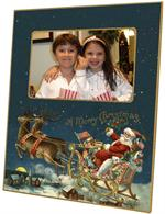 F2611 - Santa and Reindeer Picture Frame