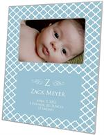 F2619-I - Chelsea Blue Personalized Picture Frame with Inset