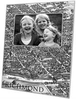 F2637-Richmond, Virginia  Antique Map Picture Frame