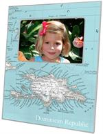 F8412- Republic of the Maldives Map Picture Frame
