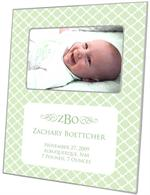 F2655-I - Chelsea Mint Birth Announcement Picture Frame