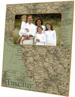 F2664-Tuscany Italy Map Picture Frame