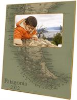 F2669-Cape Horn and Tierra del Fuego Map Picture Frame