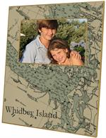 F2672- Whidbey Island Antique Nautical Chart Picture Frame
