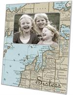 F2698 - Up North Michigan Map Picture Frame