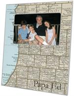 F2702 - Southern Michigan Map Picture Frame
