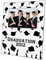 T2706-Graduation Caps Flying Lucite Tray