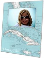 F2709 - Cuba Antique Map Picture Frame