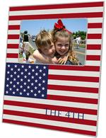 F2718-American Flag Personalized Picture Frame