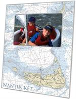 F2721-Nantucket Nautical Chart Picture Frame