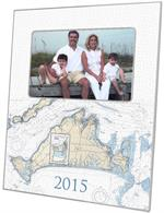 F2722- Martha's Vineyard Nautical Chart Picture Frame