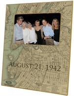 F2741 - Brooklyn Antique, New York Map Picture Frame