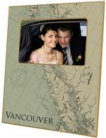 F2742-Vancouver Island British Columbia Antique Map Picture Frame