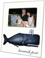 F2779-Antique Blue Whale Personalized Picture Frame