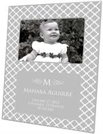 F2804-I - Chelsea Gray Birth Announcement Picture Frame