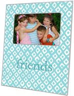 F2813 - Aqua Ikat Personalized Picture Frame
